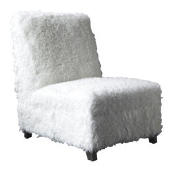 EcoFirstArt - Hanover Side Chair - The only danger with a chair this inviting is that your guests may never leave. Combining a sustainable wood frame with a box-spring base and a foam back and seat, this piece checks all the boxes of a sturdy powerhouse that is then lovingly encased in fuzzy sheep upholstery. Blending easily with most any decor, you're sure to be smitten by this little number.