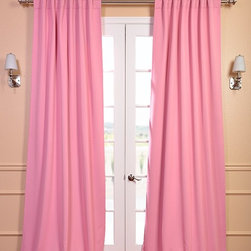 Precious Pink Blackout Curtain - You will instantly fall in love with our blackout curtains & drapes. The fabric is super soft with a refined texture made with a special polyester yarn. These curtains keep the light out and provides optimal thermal insulation.