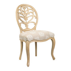 French Heritage - Briance Chair, Ivory Finish, Ivory, Side - Past perfect: This rendition of the classic shield back chair has been beautifully crafted of solid mahogany to ensure there will be no reservations about these seating arrangements for you, friends and family for years to come.