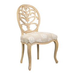 Briance Side Chair, Ivory Finish
