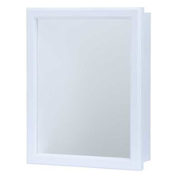 "RSI HOME PRODUCTS - WHITE SWING DOOR MED CAB 16 X 20 - White 16"" Swing Door Medicine Cabinet with 1 adjustable shelf. 15 ""W x 5""D x 19 ""H Can be recess or surface mounted"