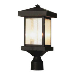 Trans Globe Lighting - Trans Globe Lighting 45644 WB Outdoor Post Light In Weathered Bronze - Part Number: 45644 WB