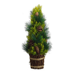 Silk Plants Direct - Silk Plants Direct Pine Cone and Pine Cone Tree (Pack of 2) - Pack of 2. Silk Plants Direct specializes in manufacturing, design and supply of the most life-like, premium quality artificial plants, trees, flowers, arrangements, topiaries and containers for home, office and commercial use. Our Pine Cone and Pine Cone Tree includes the following:
