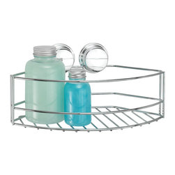 Better Living Twist'N'Lock Plus Large Shower Basket - 13811 - Great solution for organizing your bath and shower area! The Large Basket is made of durable chrome plated steel and is perfect for storing an assortment of bath and shower amenities. Mounts in the corner or flat on a wall, where you need it most! Use the suction for installing onto smooth surfaces like glass or mirror or use the screw option for a more permanent installation onto any wall surface.