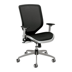 Hon - Boda High-Back Chair - Stay cool and comfortable, even when pressure is mounting. This task chair has a body-contouring mesh back and seat to keep air circulating around you as you work. And it's fully adjustable to keep you productive and satisfied.