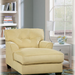 Stylish Seating - Kylee - Goldenrod Chaise