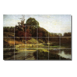 Picture-Tiles, LLC - The Oaks Of Vernon Tile Mural By Theodore Steele - * MURAL SIZE: 32x48 inch tile mural using (24) 8x8 ceramic tiles-satin finish.