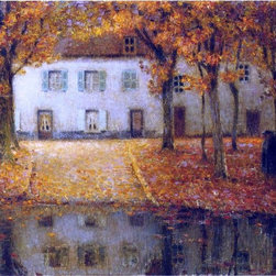 "Henri Le Sidaner Small House by the Eau River at Chartres   Print - 18"" x 24"" Henri Le Sidaner Small House by the Eau River at Chartres premium archival print reproduced to meet museum quality standards. Our museum quality archival prints are produced using high-precision print technology for a more accurate reproduction printed on high quality, heavyweight matte presentation paper with fade-resistant, archival inks. Our progressive business model allows us to offer works of art to you at the best wholesale pricing, significantly less than art gallery prices, affordable to all. This line of artwork is produced with extra white border space (if you choose to have it framed, for your framer to work with to frame properly or utilize a larger mat and/or frame).  We present a comprehensive collection of exceptional art reproductions byHenri Le Sidaner."