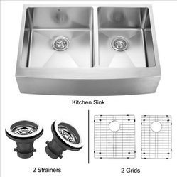 VIGO VGR3320BLK1 Farmhouse Kitchen Sink