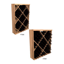Wine Cellar Innovations - Diamond Bin; WineMaker: Rustic Pine Unstained - 4 Ft - Solid Diamond Bins organize case wine storage in an attractive, popular, and practical style. This wine storage rack boasts a sturdy appearance and has a great custom racking look to it. Assembly Required.
