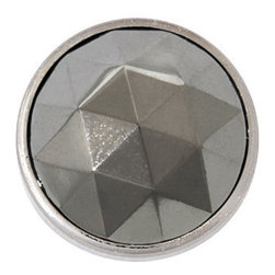 Silver Diamond in Silver Setting, Upholstery Tack, 11mm - Silver Diamond heads are elegant, dignified and exquisitely confident. Clean style works for masculine or feminine tastes with equal talent.