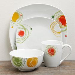 TTU Gallery 'Arcadia' 16-piece Square Dinnerware Set -