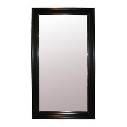 Colonial Large Mirror - Black - A seven-foot floor mirror is the perfect decor solution for creating symmetry, for expanding space, and for reflecting light. Subtly handsome, the Colonial Large Mirror is framed in a simple rectangle of traditional carved birch molding, an edge design that lets it offer Palladian balance for a doorway, unify the styles of other interior-design focal points, or provide a serviceable accent for a transitional bath. The multiple uses of this mirror can improve any room.