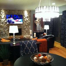 Contemporary Family Room by Nichols Design Studios