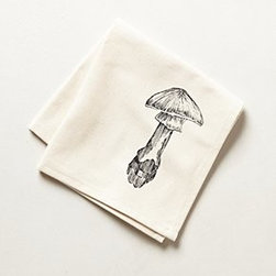 "Anthropologie - Inked Porcini Napkin - CottonMachine wash15"" squareHandmade in USA"