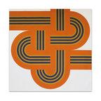 "Graphilia - """"Weave"" by Reis & Manwaring 1973 Original Vintage Serigraph -Orange - Original 1973 serigraph by Reis & Manwaring."