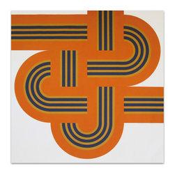 "Graphilia - ""Weave"" by Reis & Manwaring 1973 Original Vintage Serigraph -Orange - Original 1973 serigraph by Reis & Manwaring."