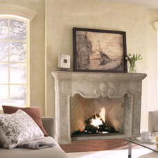 mediterranean fireplaces by DeVinci Cast Stone