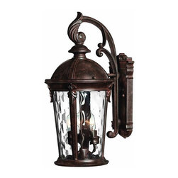Hinkley - Hinkley Windsor Three Light River Rock Wall Lantern - 1898RK - This Three Light Wall Lantern is part of the Windsor Collection and has a River Rock Finish. It is Outdoor Capable, and Wet Rated.