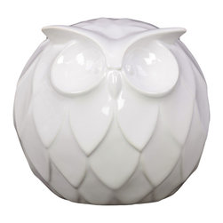 Urban Trends Collection - Ceramic Owl Decoration - Add an adorable accent to your home with this white ceramic owl. Trendy with delicate features,this piece is the perfect addition to your decor.
