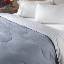Joseph Abboud - Joseph Abboud Luxury Sized Classic Reversible Down Blend Comforter - With this hypoallergenic down comforter on your bed you'll be so warm and comfortable,you may not want to get out. It comes in one of five demure colors,from peony to cappuccino,so you can match it with your existing color scheme.
