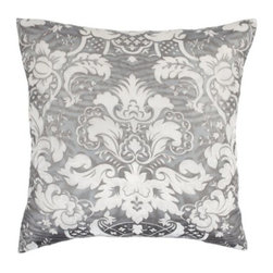 """Z Gallerie - Juliette Pillow 24"""" - Our Juliette Pillows give a nod to the elaborate style of the Victorian era with their embossed antique fabric that is flocked with soft velvet emboldened in rich colors.  Mix up these vintage pillows in a modern setting.  Zipper closure."""
