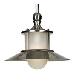 Quoizel - Quoizel NA1510BN New England Modern/Contemporary Mini Pendant Light - This collection gives a nod to timeless nautical style of the magnificent ocean liners of the 20's and 30's, but is updated for today's homes. A handsome classic that is always in fashion.