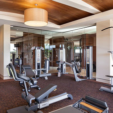 Contemporary Home Gym by Swaback Partners, pllc