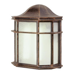 Joshua Marshal - One Light White Frosted Acrylic Glass Wall Lantern - One Light White Frosted Acrylic Glass Wall Lantern