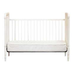 Franklin & Ben - Franklin & Ben Liberty 3-in-1 Convertible Crib in White - Franklin & Ben - Cribs - B7101W - Create a warm place for your newborn by investing in this Liberty convertible crib. Its spindle design showcases a sleek profile, made from slated hardwood. This crib is inspired by the Jenny Lind spindle designer cribs. The spindle shape and curved detailing in a subtle white shade adds to the beauty of any crib. It comes with four adjustable mattress positions for added comfort. Convenient and versatile, you can also change the crib to a day-bed.