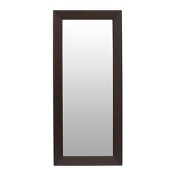 Bryght - Daffodil Light Cappuccino Framed Full Length Mirror - The Daffodil full length mirror beautifully fuses the modern with the classic. Add this bright light reflecting accent piece to any wall to enhance a sense of space in your room. The Daffodil full length mirror can be hung vertically or horizontally.
