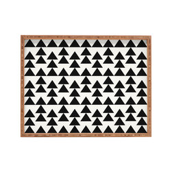 DENY Designs - Holli Zollinger Triangles Black Rectangular Tray - With DENY'S multifunctional rectangular tray collection, you can use it for decoration in just about any room of the house or go the traditional route to serve cocktails. Either way, you'll be the ever so stylish hostess with the mostess!