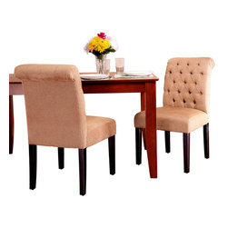 Great Deal Furniture - Elmerson Rollback Dining Chairs, Set of 2 - Dual citizenship: While these are most definitely your favorite dining room chairs, they sometimes take up residence in your living room or bedroom as comfy and chic accent chairs. And because they can work well in any location, there's no reason to impose undue restrictions on them.