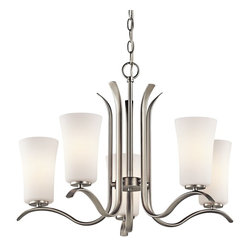 Kichler Lighting - Kichler Lighting 43074NI Armida Transitional Chandelier - Kichler Lighting 43074NI Armida Transitional Chandelier