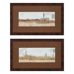 Paragon - Cities PK/2 - Framed Art - Each product is custom made upon order so there might be small variations from the picture displayed. No two pieces are exactly alike.