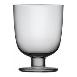 Iittala - Lempi Universal Glass, Set of 2, 10.5 Oz. Gray - Whatever your beverage of choice, this classic goblet makes a perfect vessel. A simple curved body on a sturdy pedestal is attractive and able to stand its ground when things get hectic at your table.