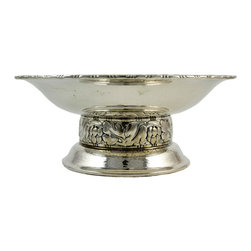 Lavish Shoestring - Consigned Silver Plated Fruit Bowl on Riased Foot, Vintage Swedish - This is a vintage one-of-a-kind item.