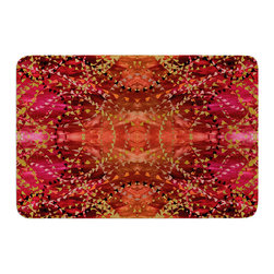 "KESS InHouse - Nikposium ""Summer"" Red Orange Memory Foam Bath Mat (17"" x 24"") - These super absorbent bath mats will add comfort and style to your bathroom. These memory foam mats will feel like you are in a spa every time you step out of the shower. Available in two sizes, 17"" x 24"" and 24"" x 36"", with a .5"" thickness and non skid backing, these will fit every style of bathroom. Add comfort like never before in front of your vanity, sink, bathtub, shower or even laundry room. Machine wash cold, gentle cycle, tumble dry low or lay flat to dry. Printed on single side."