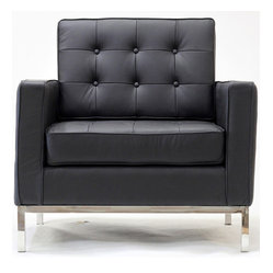 "East End Imports - Loft Armchair In Genuine Leather - A style so classic you will recognize it instantly, this beautiful set will fill your living room with joy. Each piece is crafted for optimum comfort and fashion. Furnish your space with the best of modern classics. Overall Product Dimensions: 30""L x 31""W x 31.5""H"