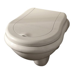 WS Bath Collections Retro Wall Hung Toilet in Ceramic White