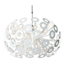 Moooi - Moooi | Dandelion Pendant Lamp - Design by Richard Hutten, 2004.Made in the Netherlands by Moooi.Intricate design of laser-cut steel with white powder coat finish.Dandelion provides direct and ambient illumination.