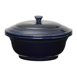 Fiesta - Fiesta Cobalt Covered Casserole 70 oz. Multicolor - 495105 - Shop for Casseroles from Hayneedle.com! About FiestaAmerica's favorite dinnerware line Fiesta was introduced by the Homer Laughlin China Company in 1936. Available in plenty of bright vibrant colors and unique shapes Fiesta dinnerware and serveware features Art Deco-style concentric rings. Made from durable restaurant-quality ceramic and finished in lead- and cadmium-free glazes this line of kitchenware is easy to mix and match to create your own custom set. Best of all each piece is microwave- and oven-safe and dishwasher-safe for easy cleanup.