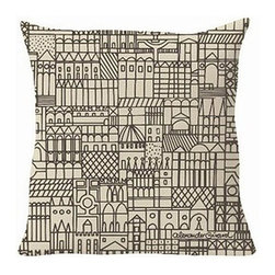 Vitra - Vitra | Suita Retrospective Repeat Pillow - Alexander Girard design. By Vitra.  The Suita Retrospective Repeat Pillow adds a touch of architecture to your modern sofa. Featuring a graphic city pattern, Retrospective Repeat gives you the sense of looking out over a dense city. Combine any of the sixteen styles in the Suita Collection to create a designer statement in your modern living room or bedroom.