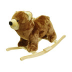 Happy Trails - Bear Plush Rocking Animal - Recommended Weight Limit: 80 lbs.. Seat Height: 19 in.. Ages: 2 years and up. Color: Brown. 30 in. L x 14 in. W x 21 in. H (11 lbs.)