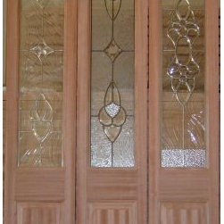 Mahogany Entry doors - Made of single side or double side panels for front-entry door.