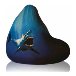 Elite Products - Elite Products Large Shot Shark Bean Bag - Elite Products -Bean Bags -301041872 -Comfortable bean bags come in all sorts of trendy and stylish fabrics. Our specially selected Plush Fabric styles adapt well to todays trends and fashions. It is easy to find a bean bag that matches your style and personality.