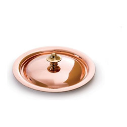"Mauviel - Mauviel M'heritage Copper & Stainless Steel Mini Lid, 3.5"" - Bilaminated copper stainless steel (90% copper and 10% 18/10 stainless steel)"