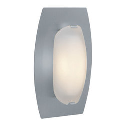 Joshua Marshal - Frosted Nido 1 Light Wall Sconce with Glass Shade - Frosted Nido 1 Light Wall Sconce with Glass Shade