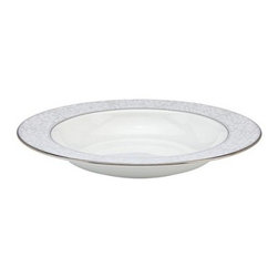 Lenox Sheer Grace Pasta/Rim Soup Bowl - A graceful bowl: gracebowl - if that's a word, then the Lenox Sheer Grace Pasta/Rim Soup Bowl is just that. Linguistic innovation aside, this bowl is a supreme addition to your dinnerware. Crafted from fine bone china, this elegant platter features platinum accents and a leaf motif for fine style. Dishwasher-safe for your convenience.About LenoxThe Lenox Corporation is an industry leader in premium tabletops, giftware, and collectibles. The company markets its products under the Lenox, Dansk, and Gorham brands, propelled by a shared commitment to quality and design that makes the brands among the best known and respected in the industry. Collectively, the three brands share 340 years of tabletop and giftware expertise.