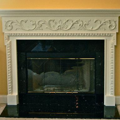 english style fireplace -